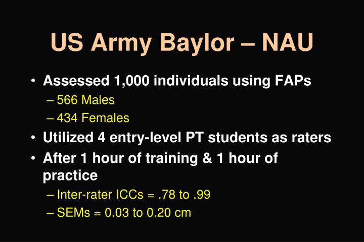 US Army Baylor – NAU