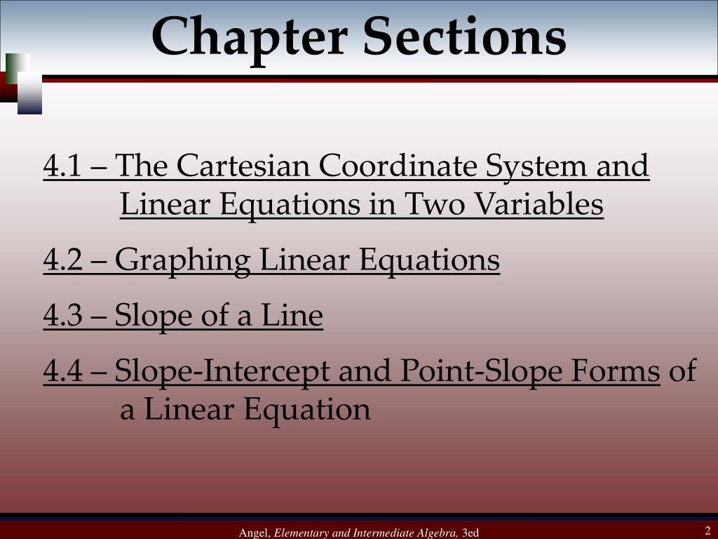 Chapter Sections