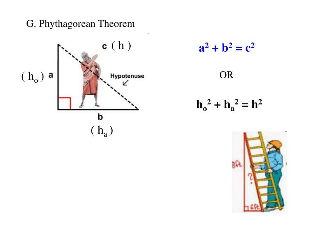 G. Phythagorean Theorem