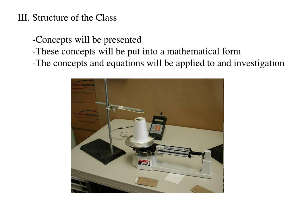 III. Structure of the Class