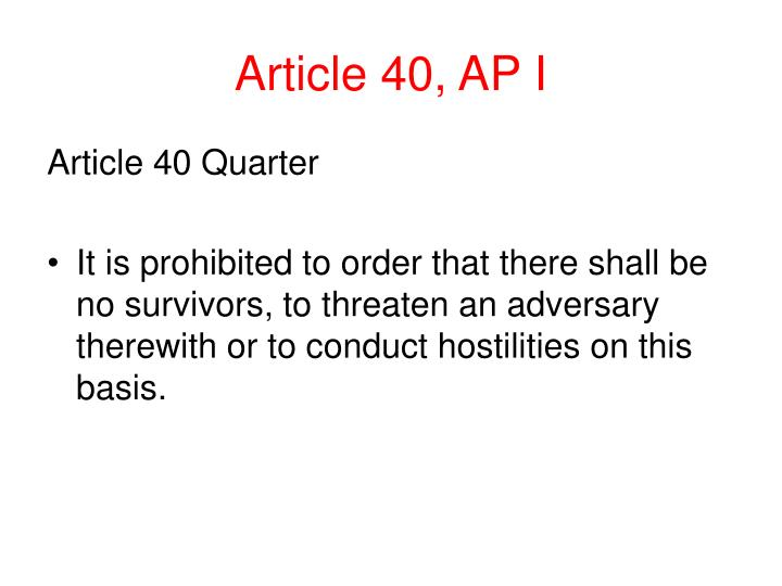 Article 40, AP I