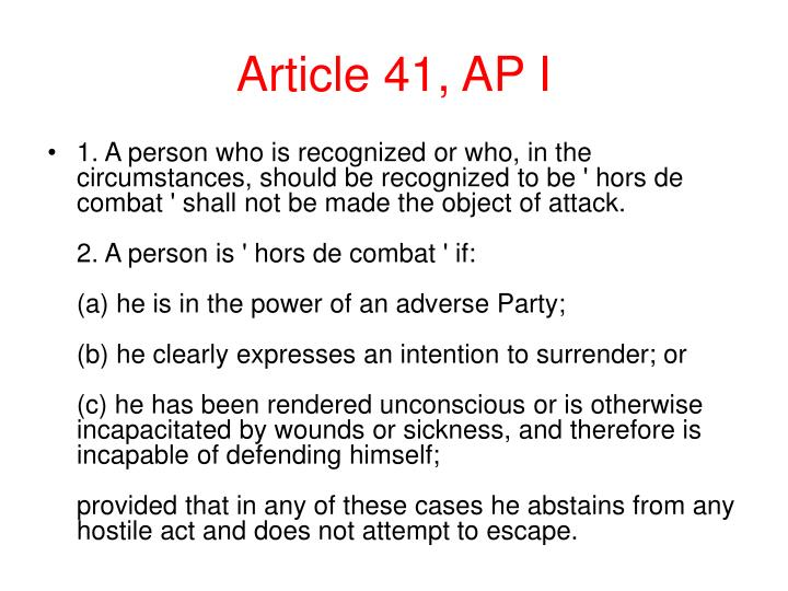 Article 41, AP I