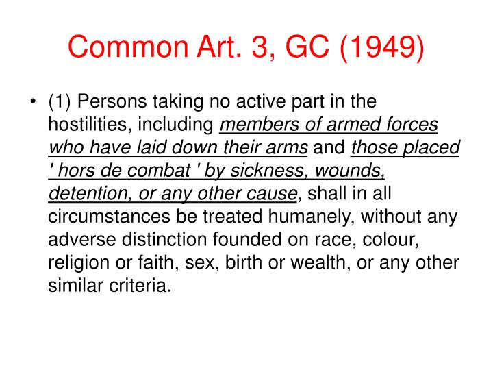 Common Art. 3, GC (1949)
