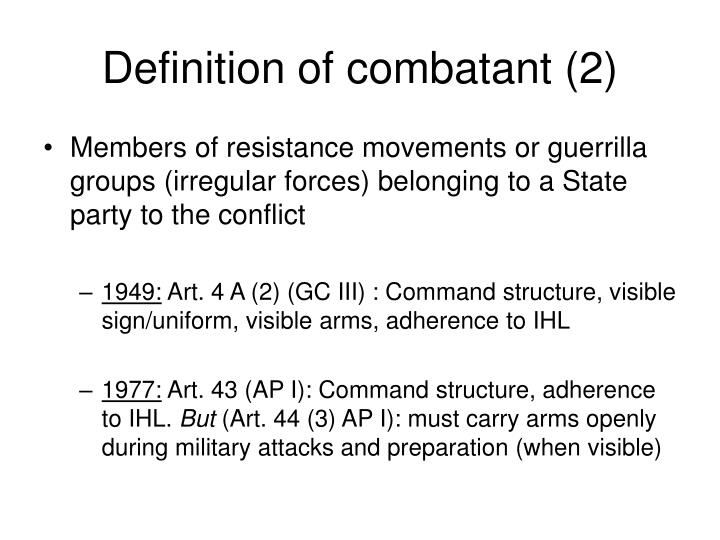 Definition of combatant (2)