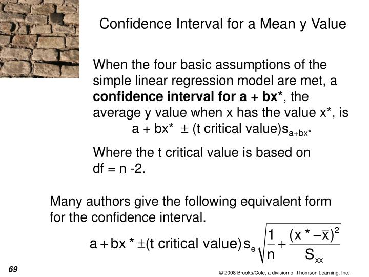 Many authors give the following equivalent form for the confidence interval.