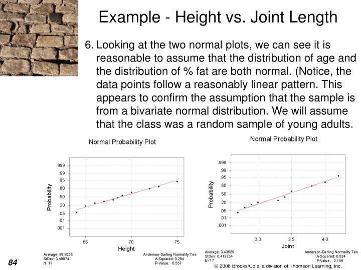 Example - Height vs. Joint Length