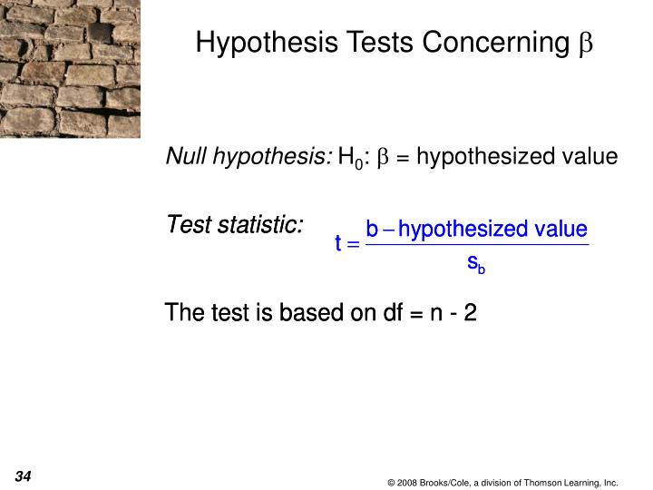 Hypothesis Tests Concerning