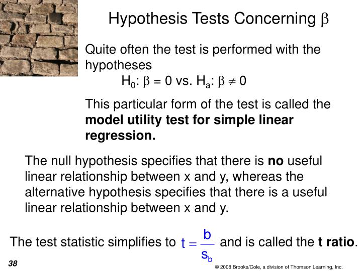 The test statistic simplifies to            and is called the