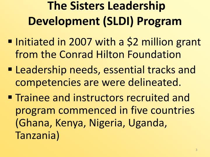 The Sisters Leadership Development (SLDI) Program