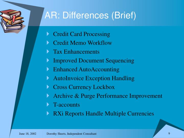 AR: Differences (Brief)