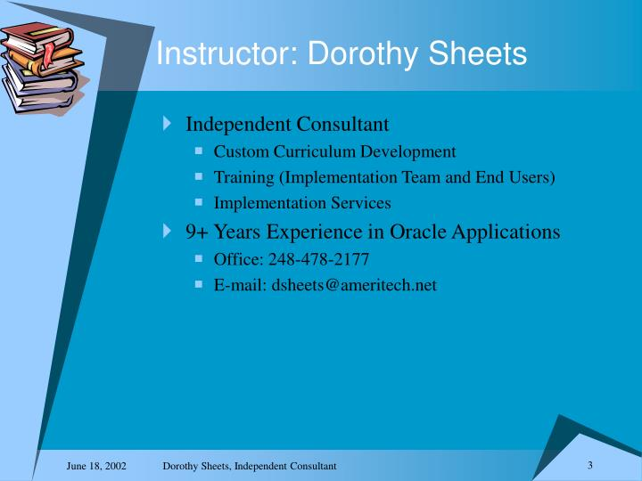 Instructor dorothy sheets