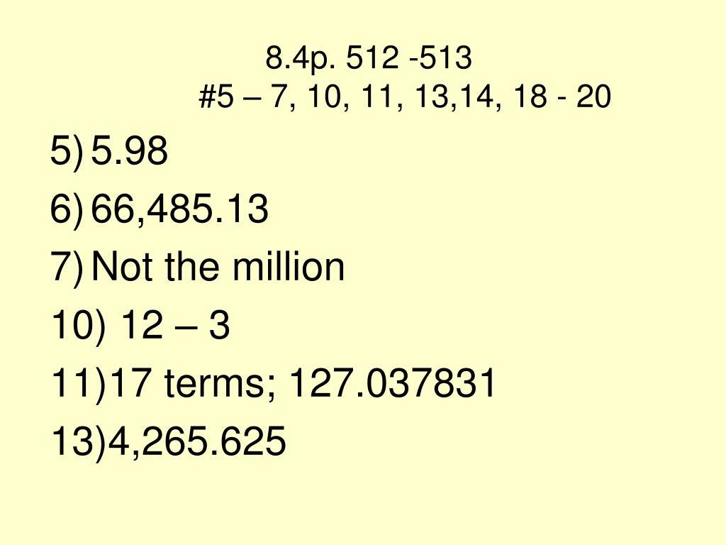 8.4p. 512 -513