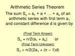 arithmetic series theorem