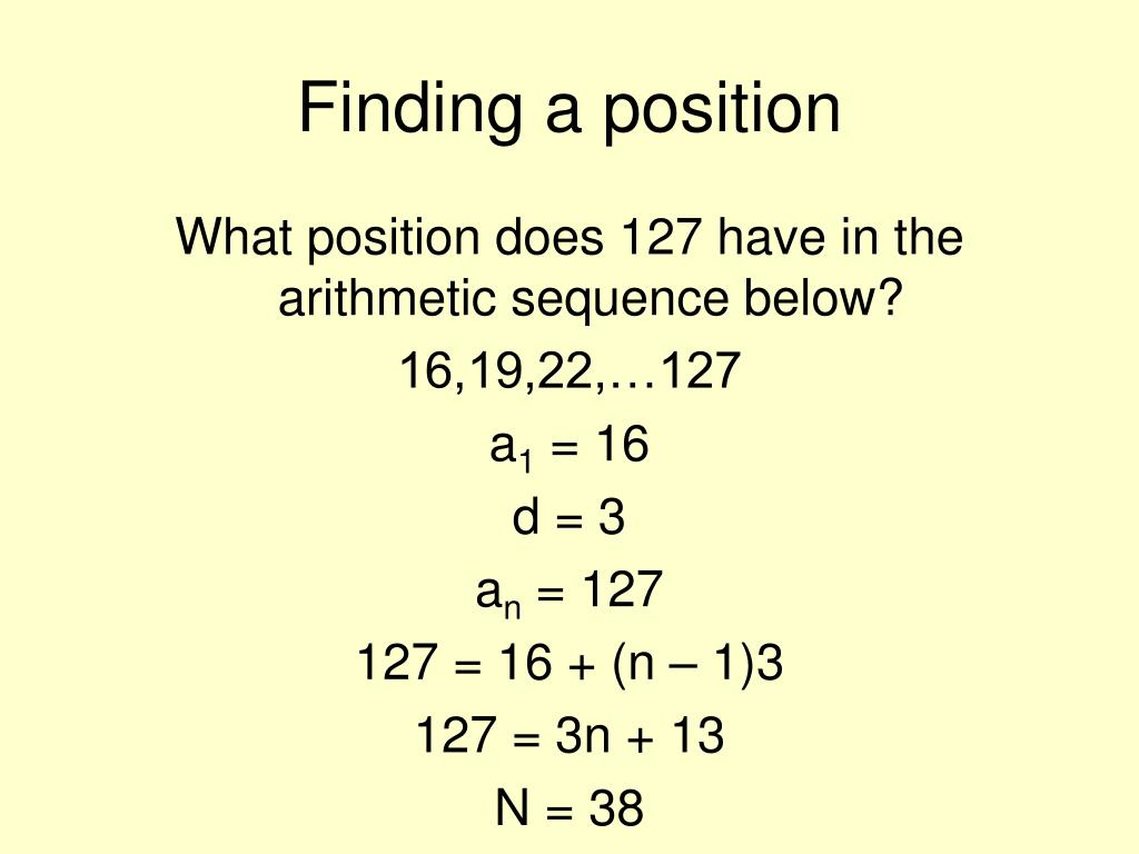 Finding a position
