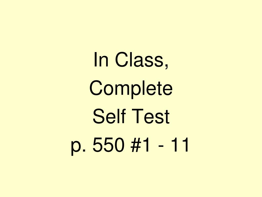 In Class,