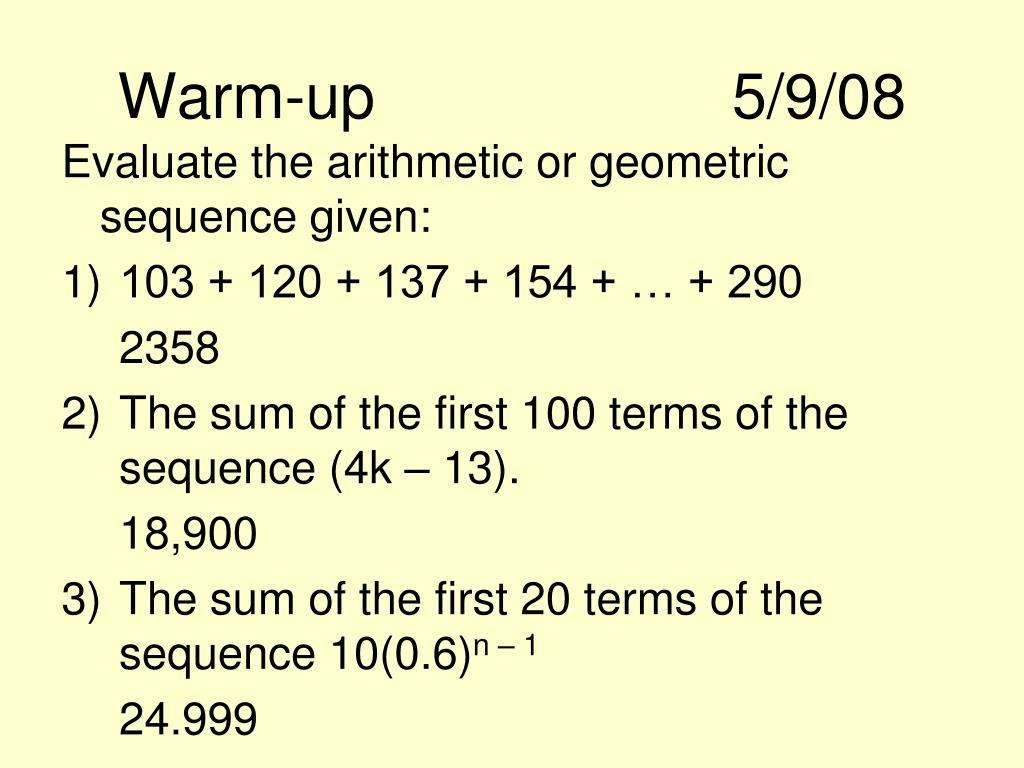 Warm-up5/9/08