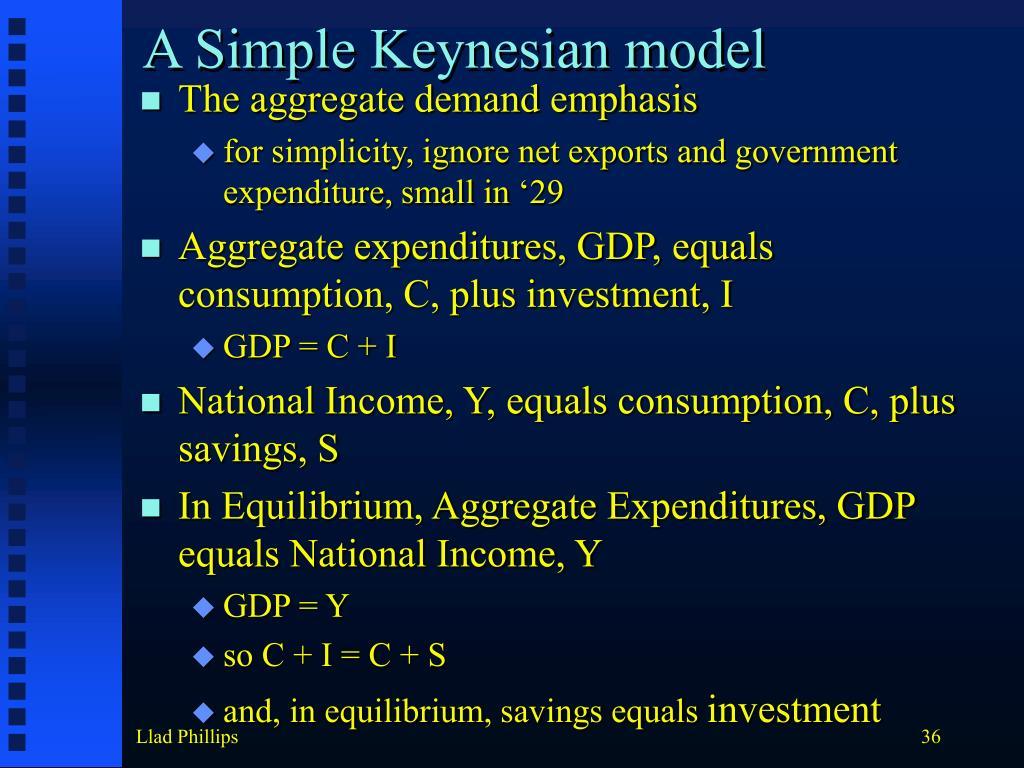 A Simple Keynesian model