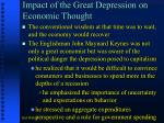 impact of the great depression on economic thought