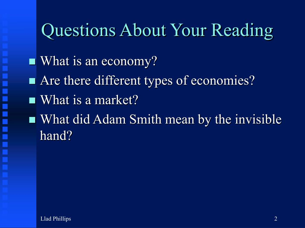 Questions About Your Reading