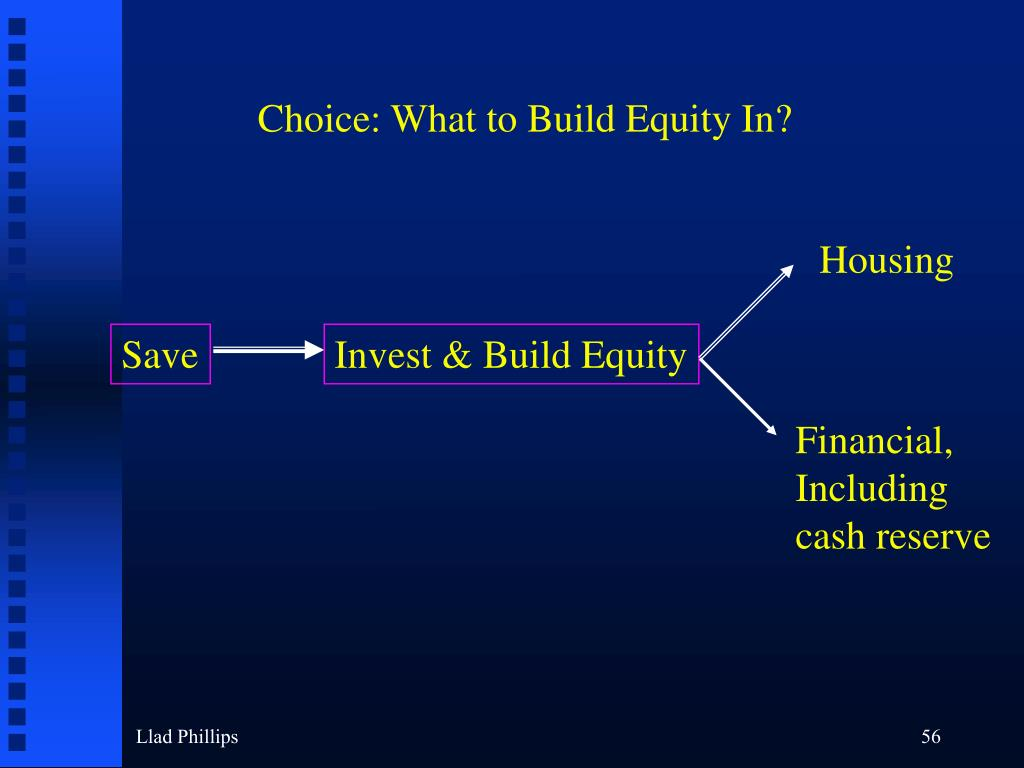 Choice: What to Build Equity In?