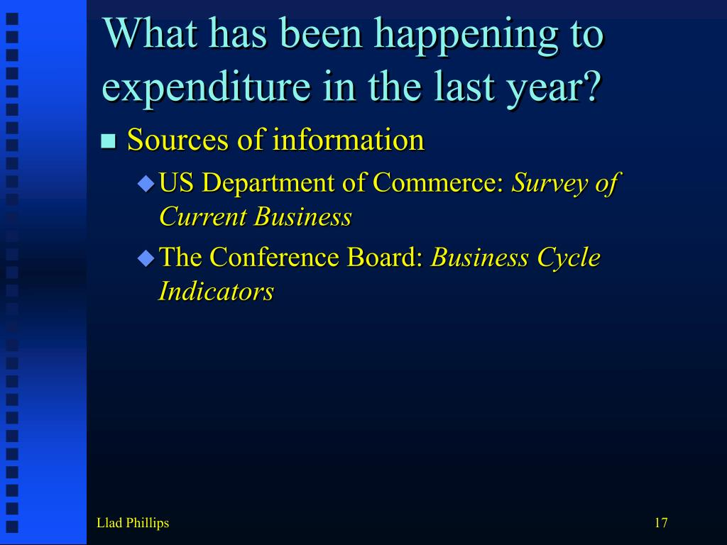 What has been happening to expenditure in the last year?