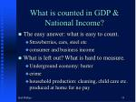 what is counted in gdp national income