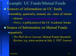 example uc funds mutual funds