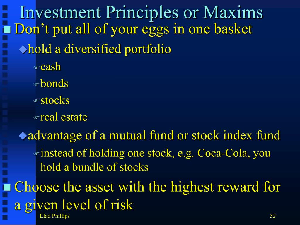 Investment Principles or Maxims