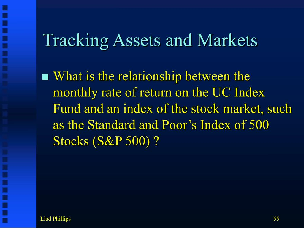Tracking Assets and Markets