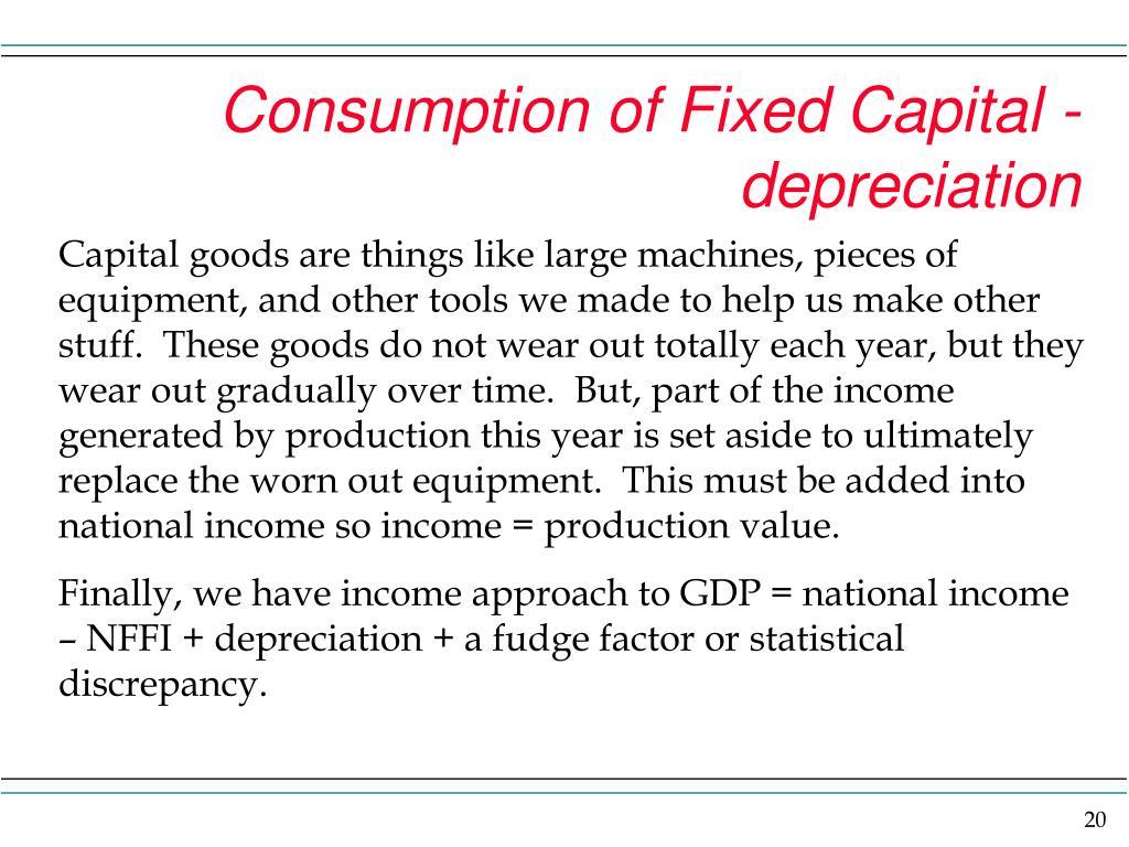 Consumption of Fixed Capital - depreciation