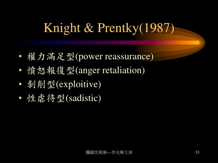 Knight & Prentky(1987)