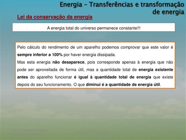 Energia – Transferências e transformação