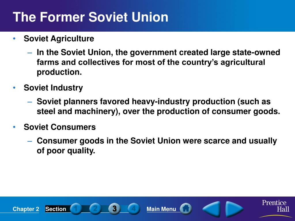 The Former Soviet Union