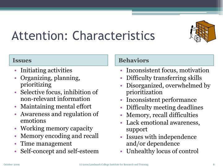 Attention: Characteristics