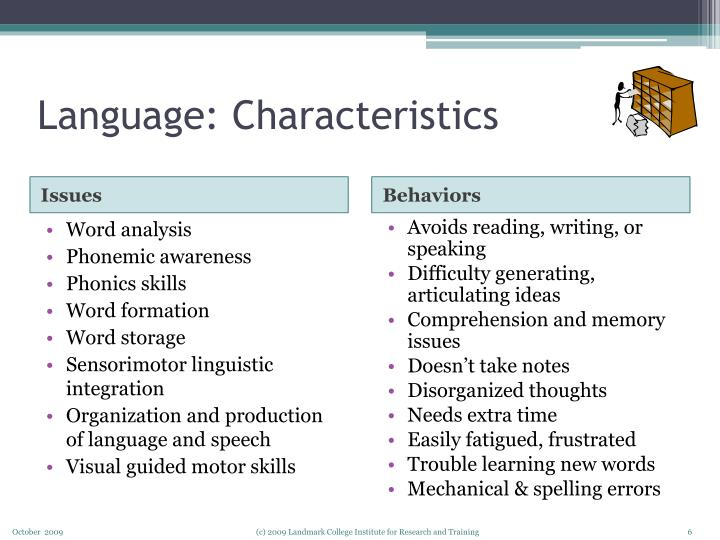 Language: Characteristics