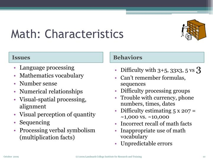 Math: Characteristics