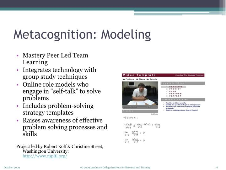 Metacognition: Modeling