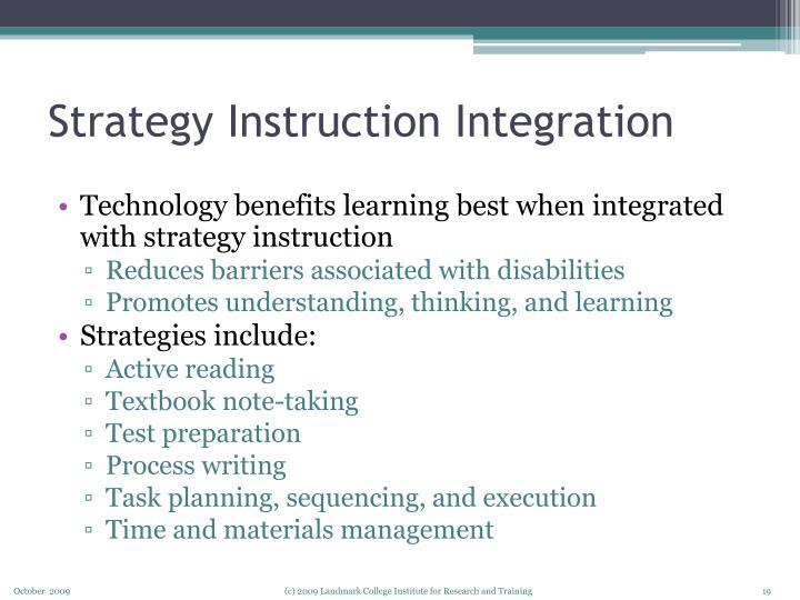 Strategy Instruction Integration