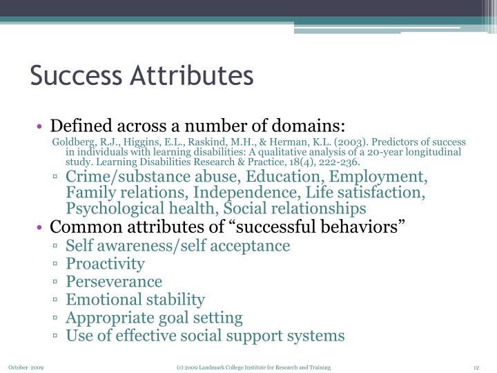 Success Attributes