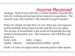 income received