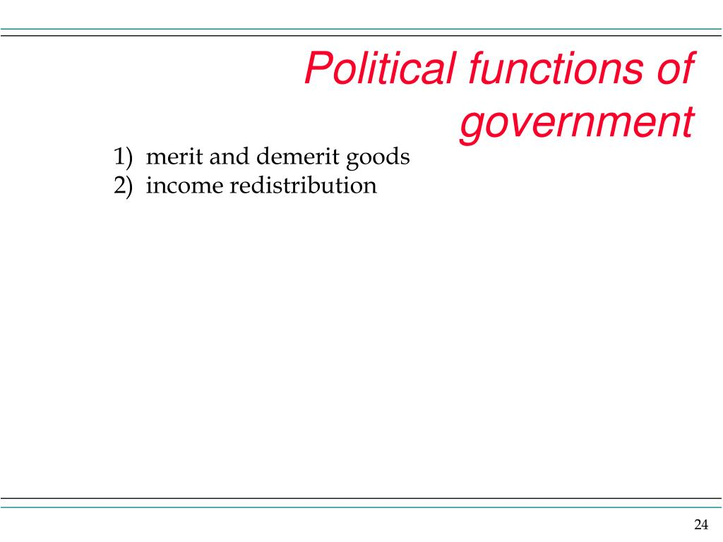 Political functions of government