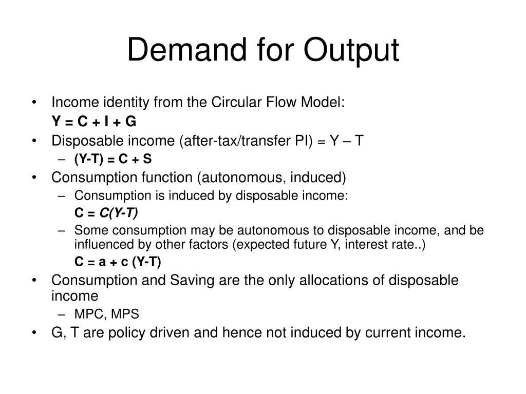 Demand for Output