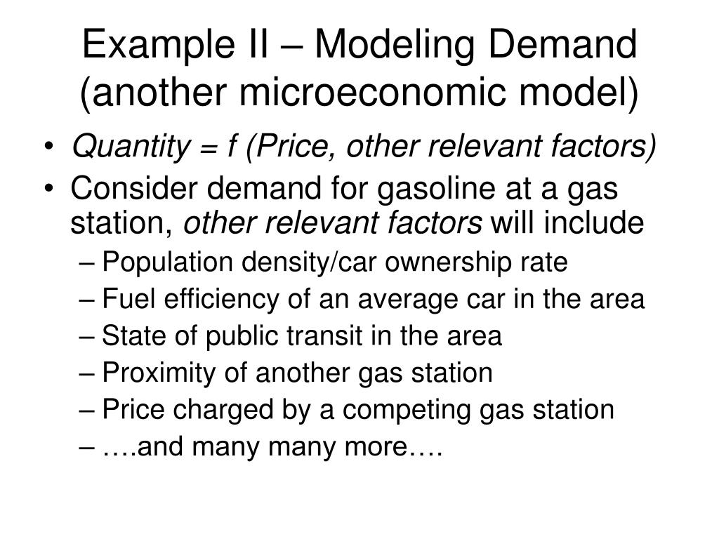 Example II – Modeling Demand