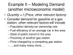 example ii modeling demand another microeconomic model