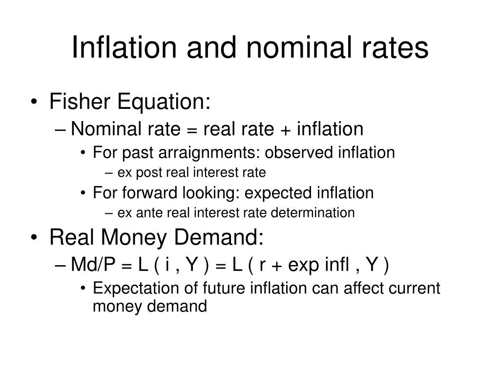 Inflation and nominal rates