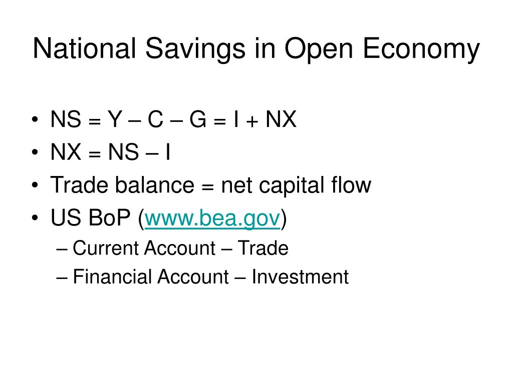 National Savings in Open Economy
