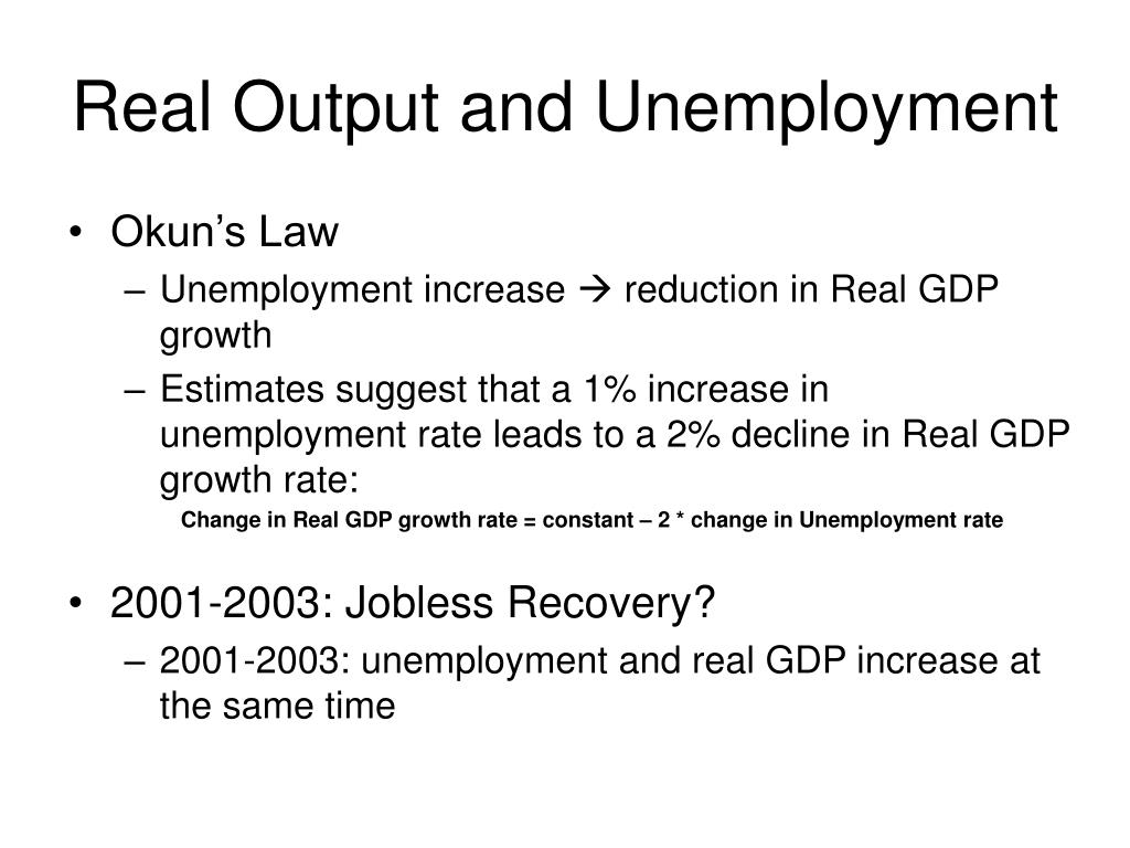 Real Output and Unemployment