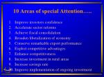 10 areas of special attention