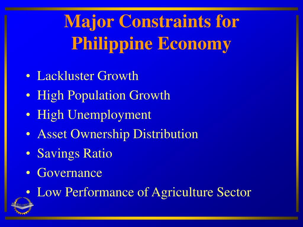 Major Constraints for Philippine Economy