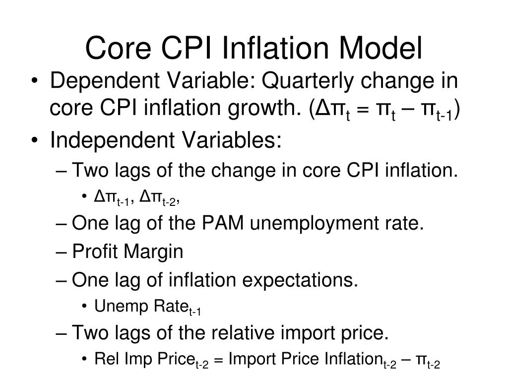 Core CPI Inflation Model